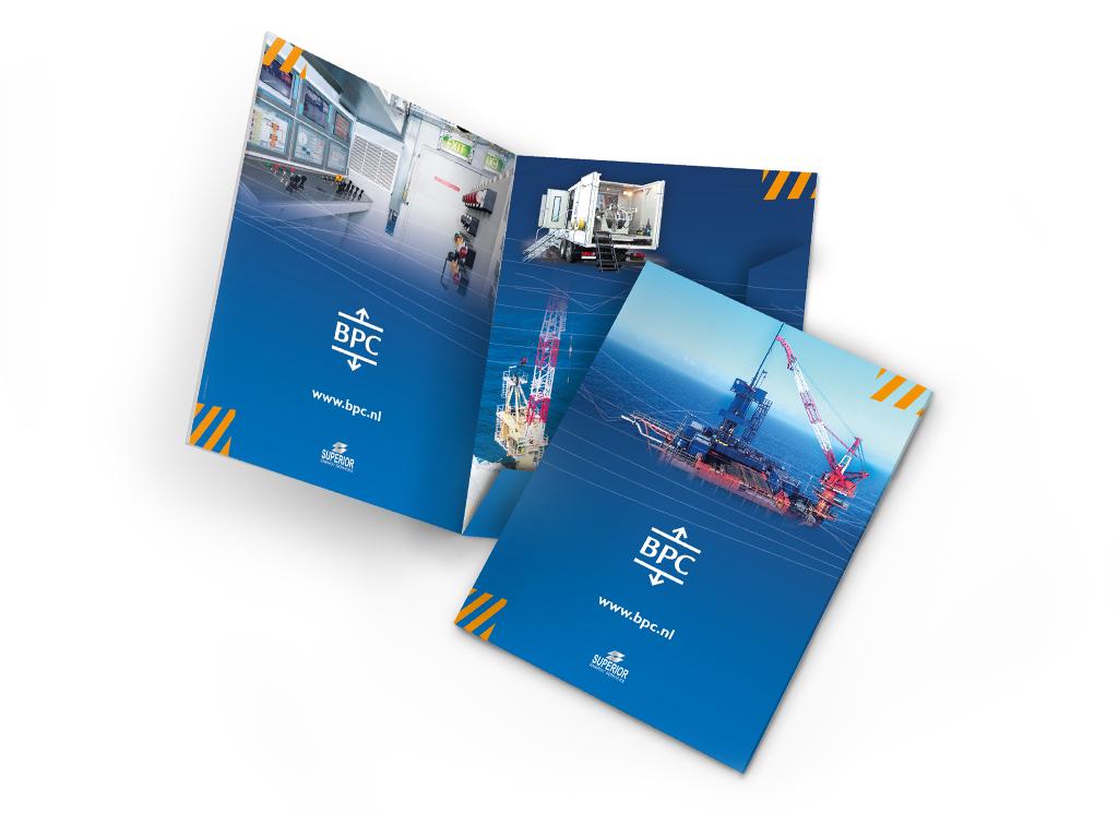 Ontwerp BPC brochure, folders en offertemap