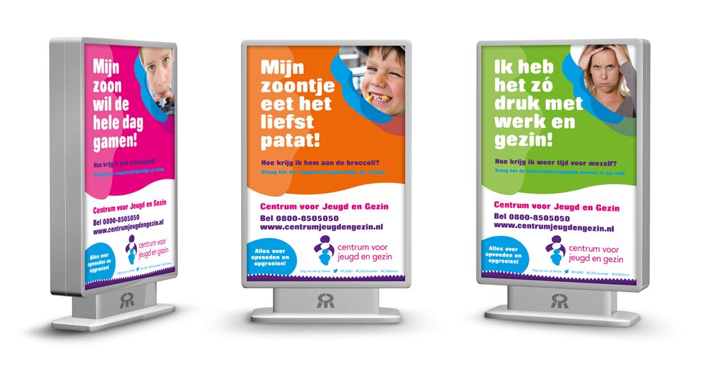 Ontwerp Centrum voor Jeugd en Gezin posters