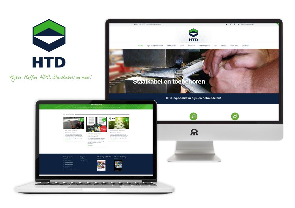 Ontwerp HTD logo en ontwerp en ontwikkeling website