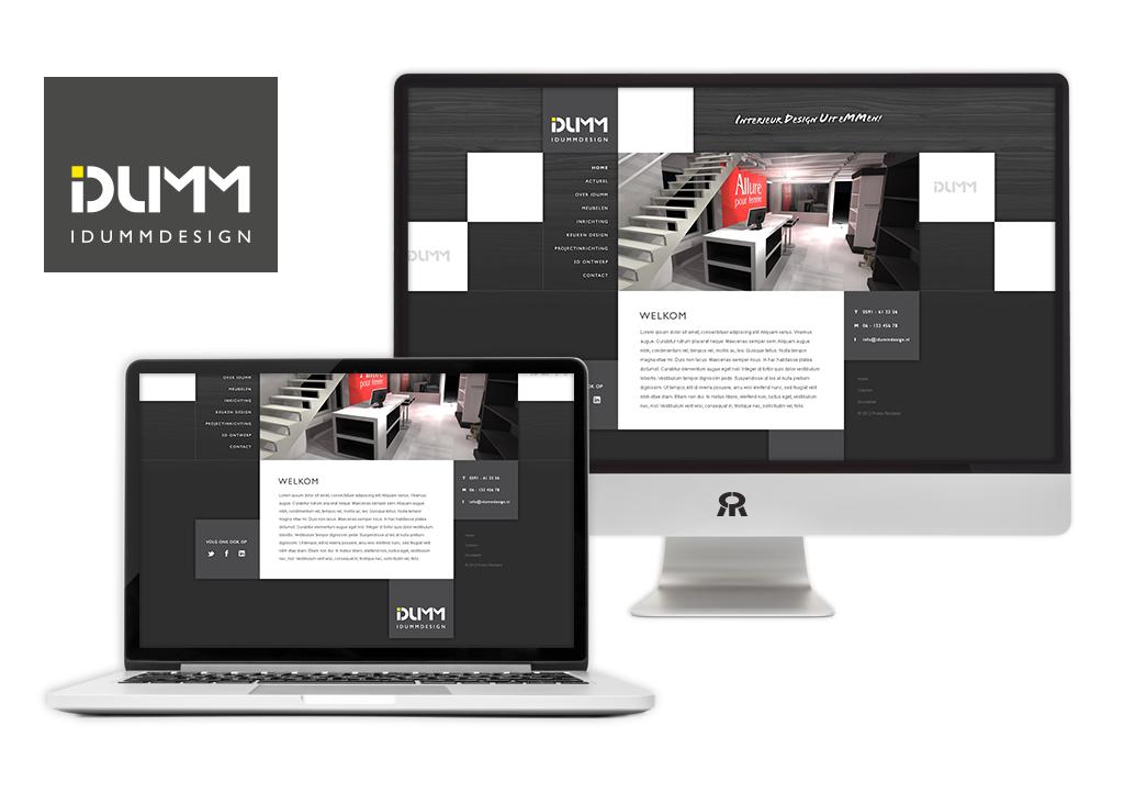 Ontwerp IDuMM Design logo en ontwikkeling website