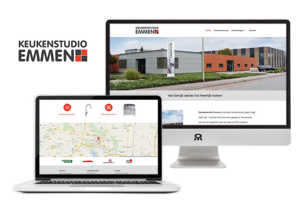 Ontwerp en ontwikkeling responsive website Keukenstudio Emmen
