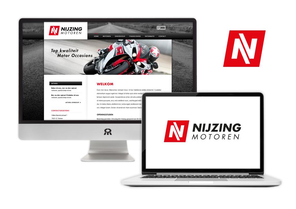 Ontwerp Nijzing Motoren logo en website ontwikkeling