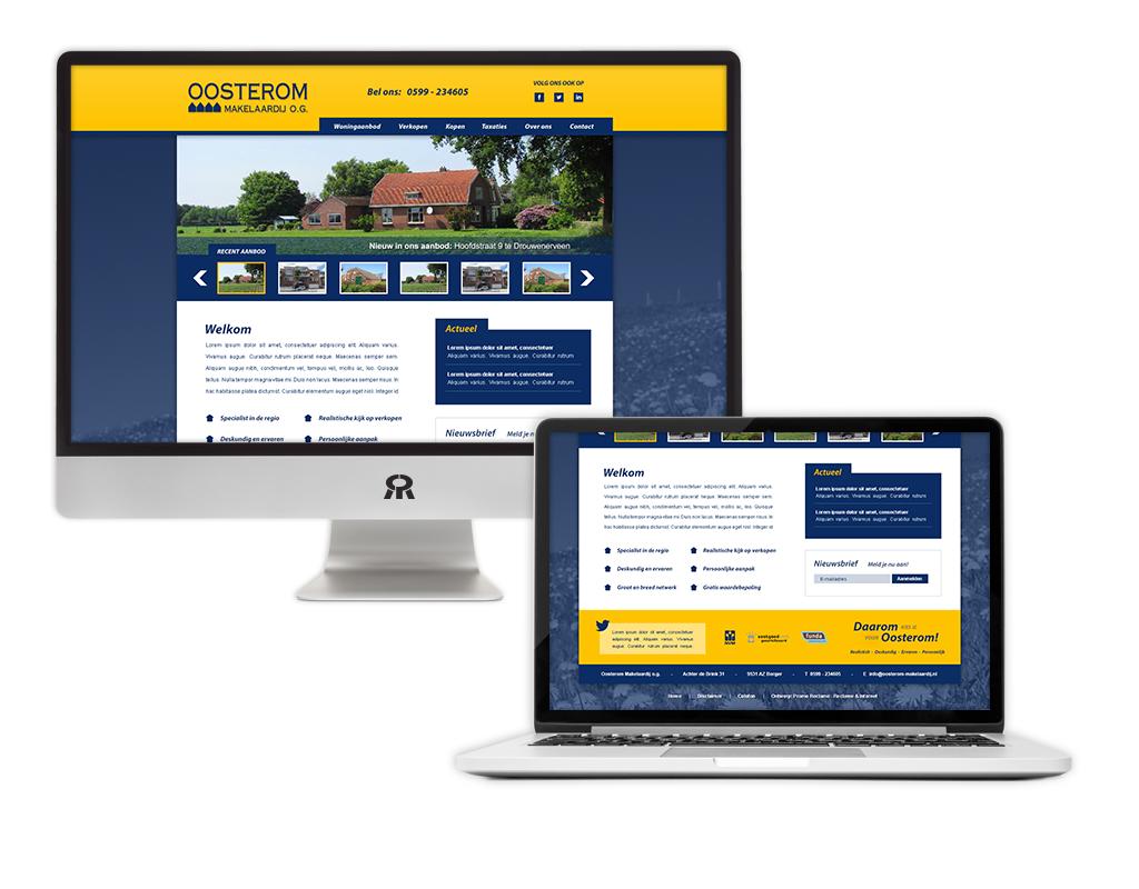 Ontwerp en ontwikkeling Oosterom Makelaardij website