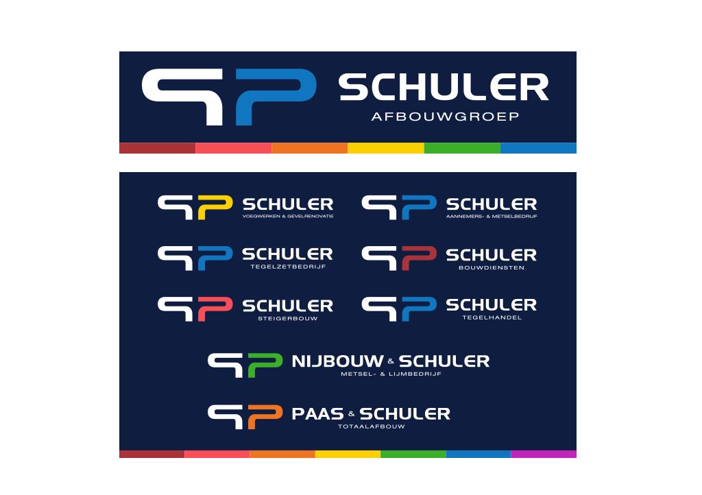 Ontwerp Schuler afbouwgroep logo en huisstijl