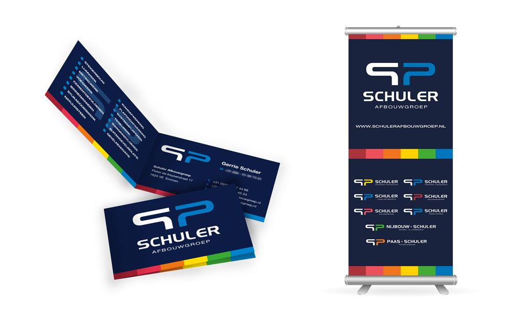 Ontwerp Schuler visitekaartje en banner