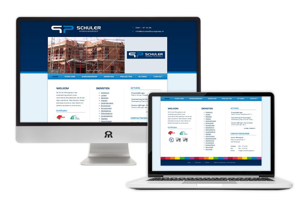 Ontwerp en ontwikkeling Schuler website