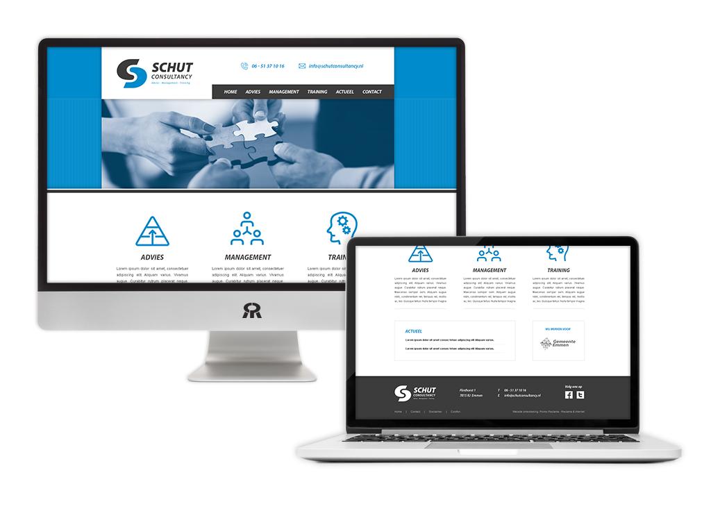 Ontwerp en ontwikkeling Schut Consultancy website