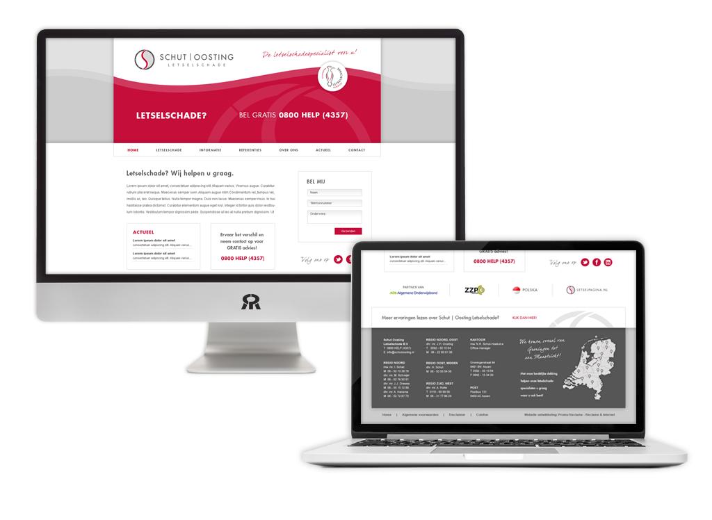 Ontwerp en ontwikkeling Schut Oosting Letselschade website