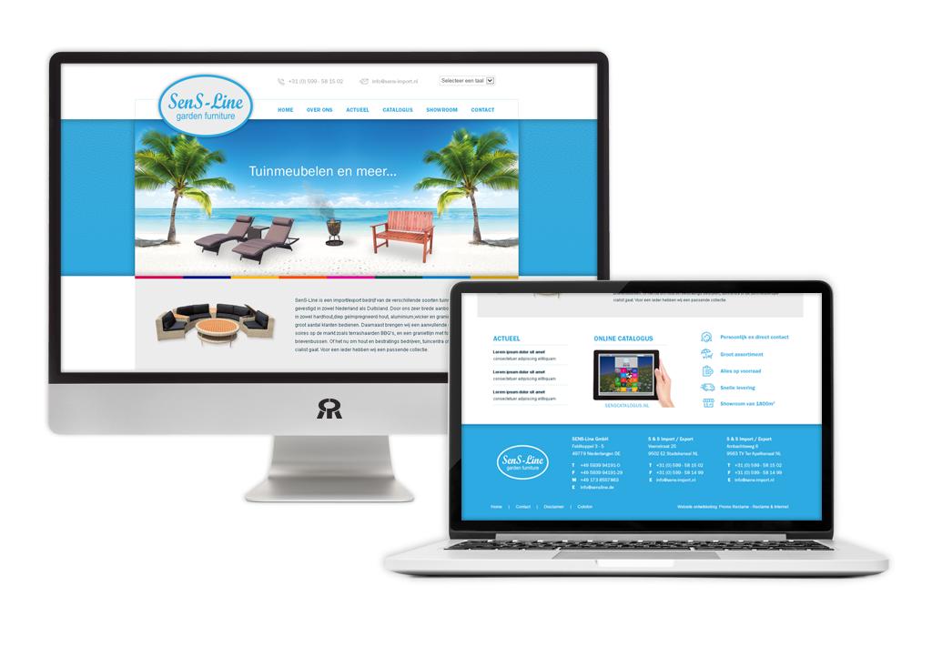 Ontwerp en ontwikkeling SenS-Line website