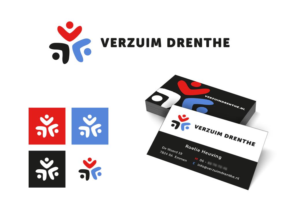 Ontwerp Verzuim Drenthe logo en huisstijl