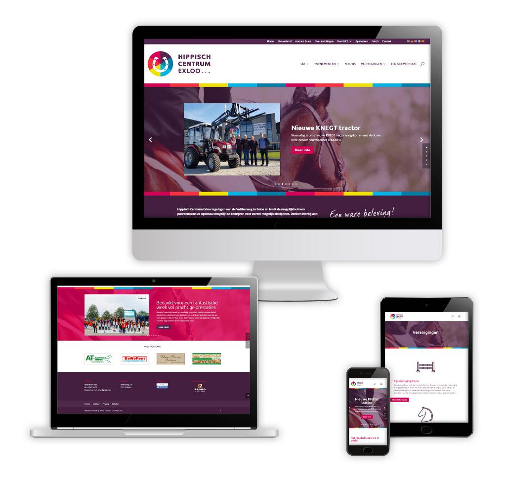 Ontwerp en realisatie website Hippisch Centrum Exloo