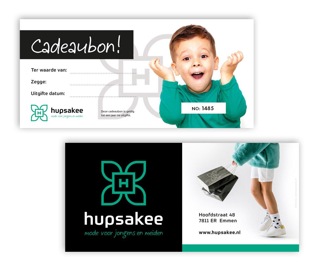 Cadeaubon ontwerp Hupsakee