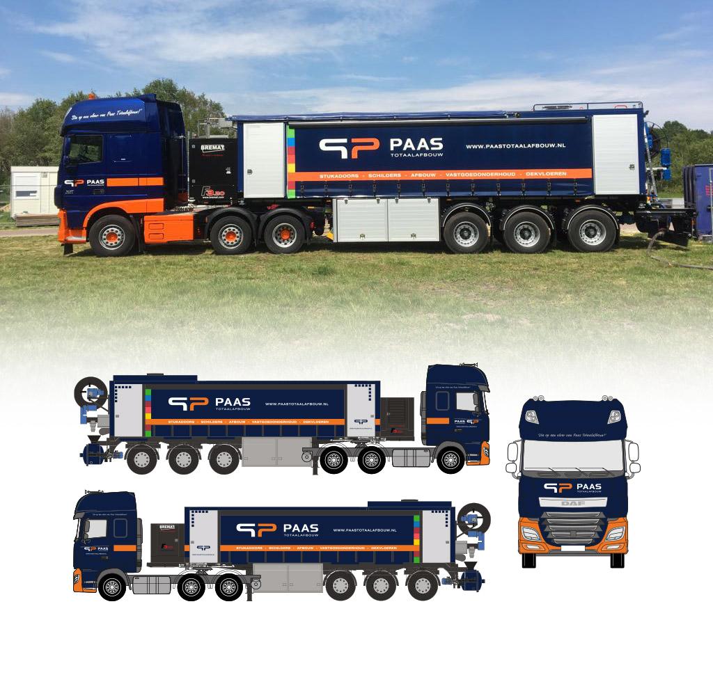 Vrachtwagen ontwerp Paas Totaalafbouw