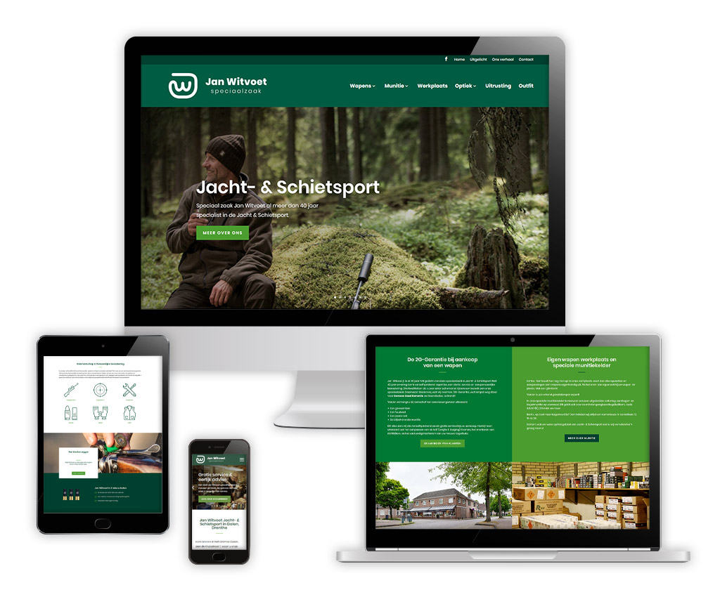 Website ontwikkeling Jan Witvoet - Jacht- & Schietsport