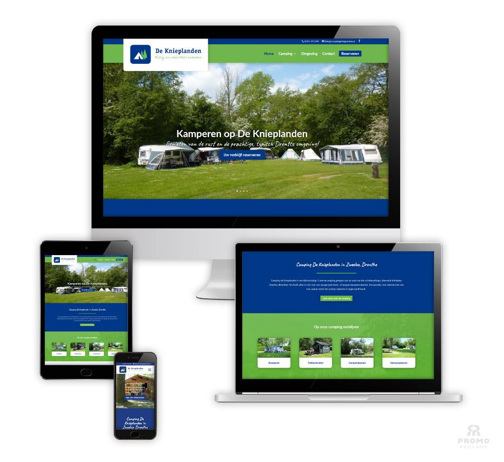 Website ontwikkeling Camping de Knieplanden