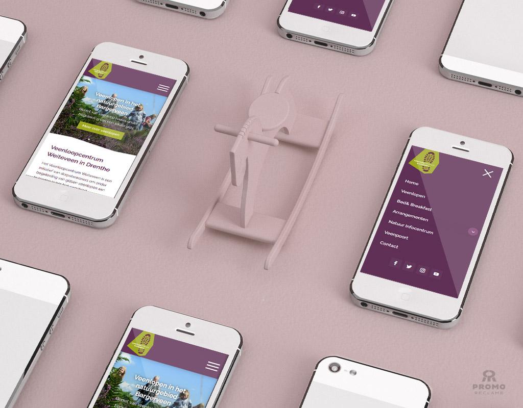 Veenloopcentrum Weiteveen website ontwerp