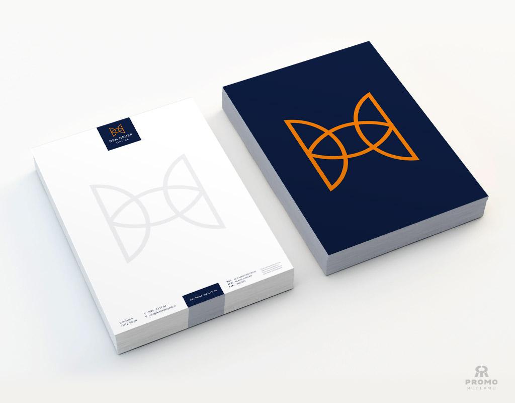 Briefpapier ontwerp Den Heijer Optiek
