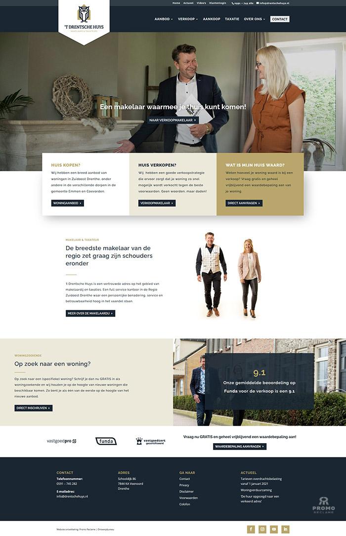 Realisatie website 't Drentsche Huys Makelaars
