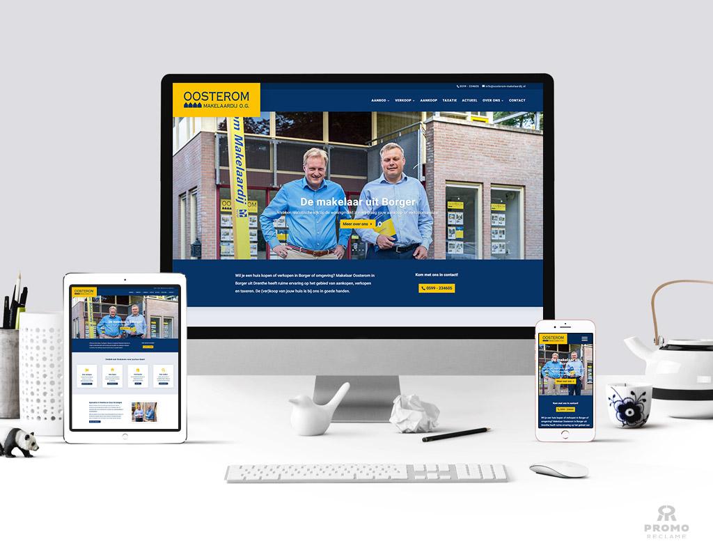 Realisatie website Oosterom Makelaardij