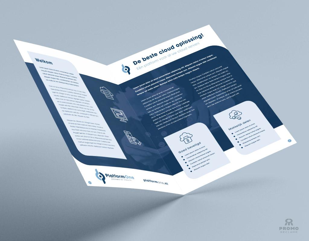 Brochure ontwerp PlatformOne