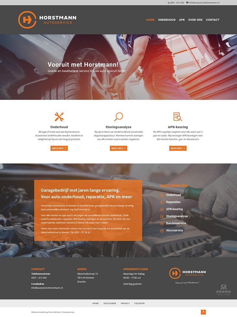 Ontwerp en realisatie website Horstmann Autoservice
