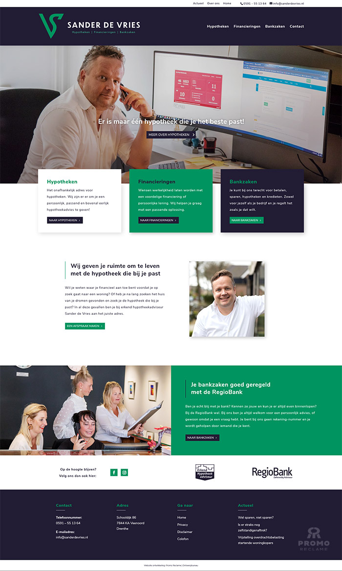 Website realisatie Sander de Vries