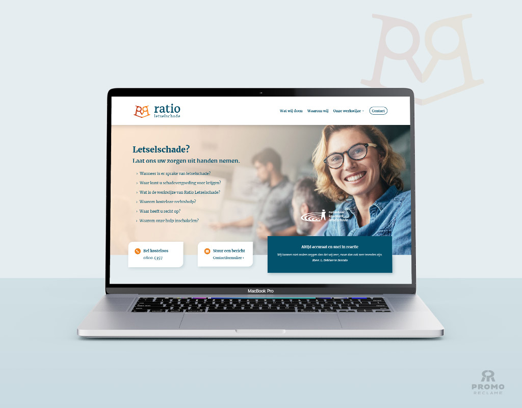 Ratio Letselschade website ontwerp